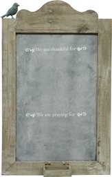 We are Thankful, Metal Chalkboard