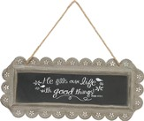 He Fills Our Life with Good Things, Chalkboard