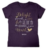 Delight Yourself In the Lord, Missy Shirt, Small