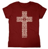 Engraved Cross, Missy Shirt, X-Large