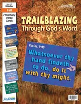 Trailblazing through God's Word Middler (Grades 3-4) Memory Verse Visuals