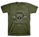Awaken the Warrior Within Shirt, Green, Large