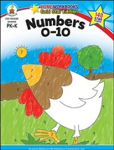 Numbers 0-10 Gold Star Home Workbooks, Grades PreK-K