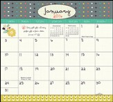 2016 Joy In The Journey Magnetic Calendar Pad
