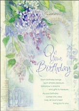 Bouquet of Blessings Birthday Cards, Box of 12