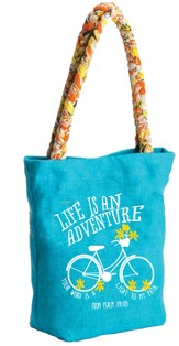 Life Is An Adventure Tote Bag with Sari Handles, Psalm 119:105
