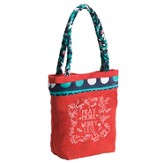 Pray More Worry Less Tote Bag with Sari Handles