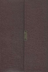 NAS Compact Reference Bible, Bonded leather, Burgundy w/snap flap