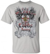 I'm A Soldier In the Lord's Army Shirt, Gray, Small