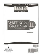 BJU Writing & Grammar Answer Key, Grade 11