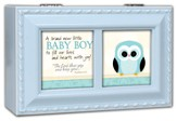 A Brand New Baby Boy Music Box, Blue