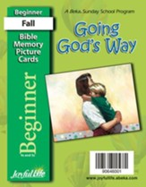 Going God's Way Beginner (ages 4 & 5) Mini Bible Memory Picture Cards
