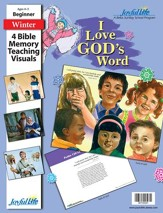 I Love God's Word Beginner (ages 4 & 5) Bible Memory Verse Visuals