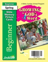 Growing in God's Word Beginner (ages 4 & 5) Mini Bible Memory Picture Cards