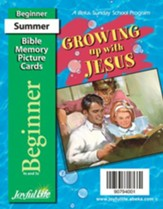 Growing Up with Jesus Beginner (ages 4 & 5) Mini Bible Memory Picture Cards