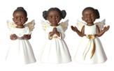 Angel Cherub Figurines, White, Set of 3