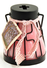 Cross Candle Lantern, Very Berry