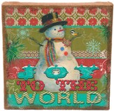 Joy To the World Burlap Art