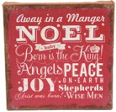 Away In A Manger Burlap Art