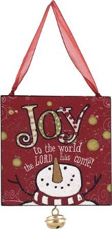 Joy To the World, The Lord Has Come Ornament with Jingle Bell