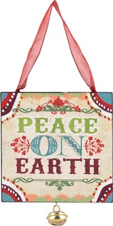 Peace On Earth Ornament, with Jingle Bell