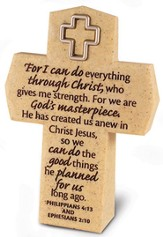 For I Can Do Everything Through Christ--Tabletop Cross