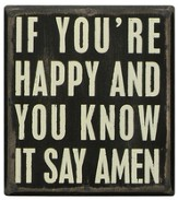 If You're Happy and You Know It, Say Amen Box Sign