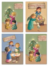 Precious Angels Christmas Cards, Box of 12