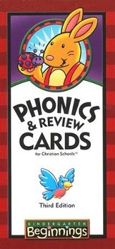 BJU K5 Beginnings Phonics & Review Cards, Third Edition