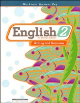 BJU English 2: Writing and Grammar, Worktext Answer Key (Second Edition)