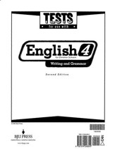 BJU English: Writing & Grammar 4, Tests (Second Edition)