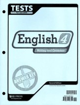 BJU English: Writing & Grammar Grade 4 Tests Answer Key 2nd Ed.
