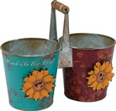 Give Thanks To the Lord Metal Flower Bucket