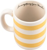 In Everything Give Thanks, Gold Striped Mug