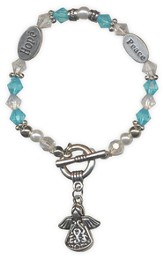 Angel Blessings Bracelet, Angel, Blue