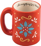 In Everything Give Thanks Mug, Red