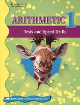 Arithmetic 1 Tests/Speed Drills Key