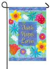 Faith, Hope, Love Flag, Small