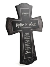 Personalized, Family Roots Cross, Black, Large