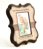 Personalized, Two Hearts One Love, Photo Frame, Tan