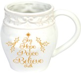 Joy, Hope, Peace, Believe, Faith Mug