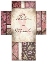 Believe in Miracles Cross, Pink Ribbon