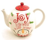 Joy To the World, The Lord Has Come, Snowman Teapot