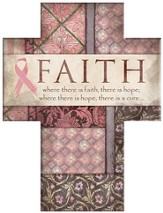 Where There is Faith Cross, Pink Ribbon