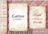 Faith Will See You Through Photo Frame, Pink Ribbon