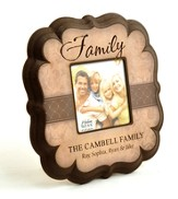 Personalized, Family 4X4 Photo Frame, Tan