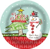 Joy to the World, Snowman Plate