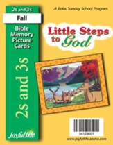 Little Steps to God (ages 2 & 3) Mini Bible Memory Picture Cards