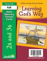 Learning God's Way (ages 2 & 3) Mini Bible Memory  Picture Cards