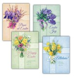 Flower-Adorned Crosses - Easter Cards